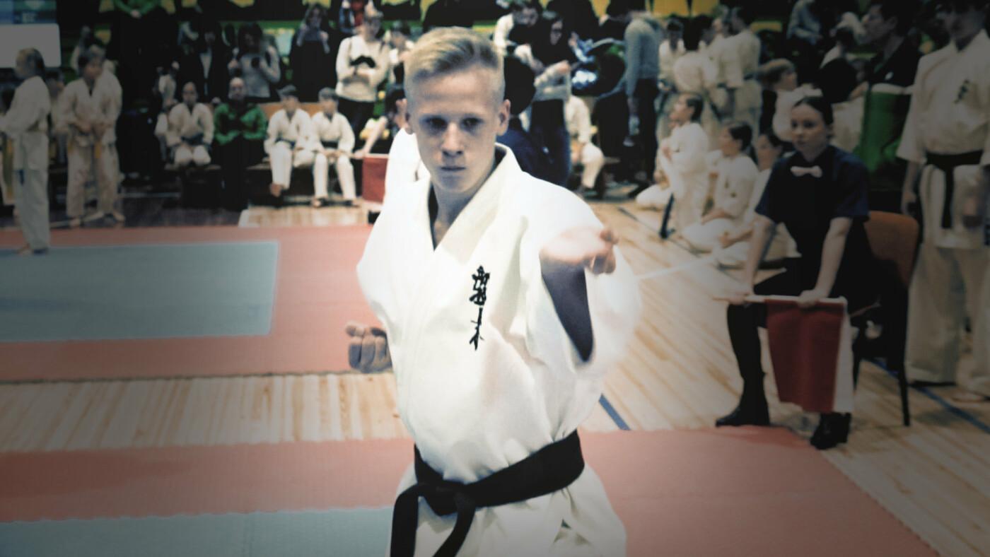 Lietuvos kyokushin karatė KATA čempionate palangiškis Gustas Petrošius  iškovojo bronzos medalį, nuotrauka-1