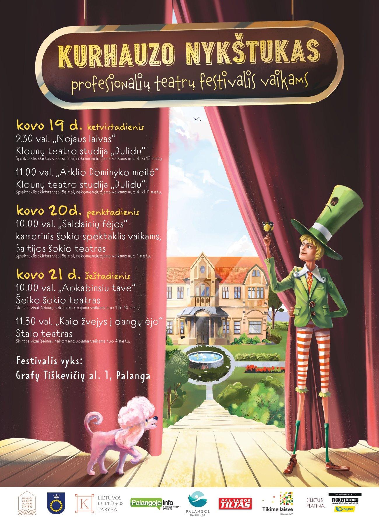 """III-asis profesionalių teatrų festivalis vaikams Palangoje """"Kurhauzo nykštukas"""", nuotrauka-1"""