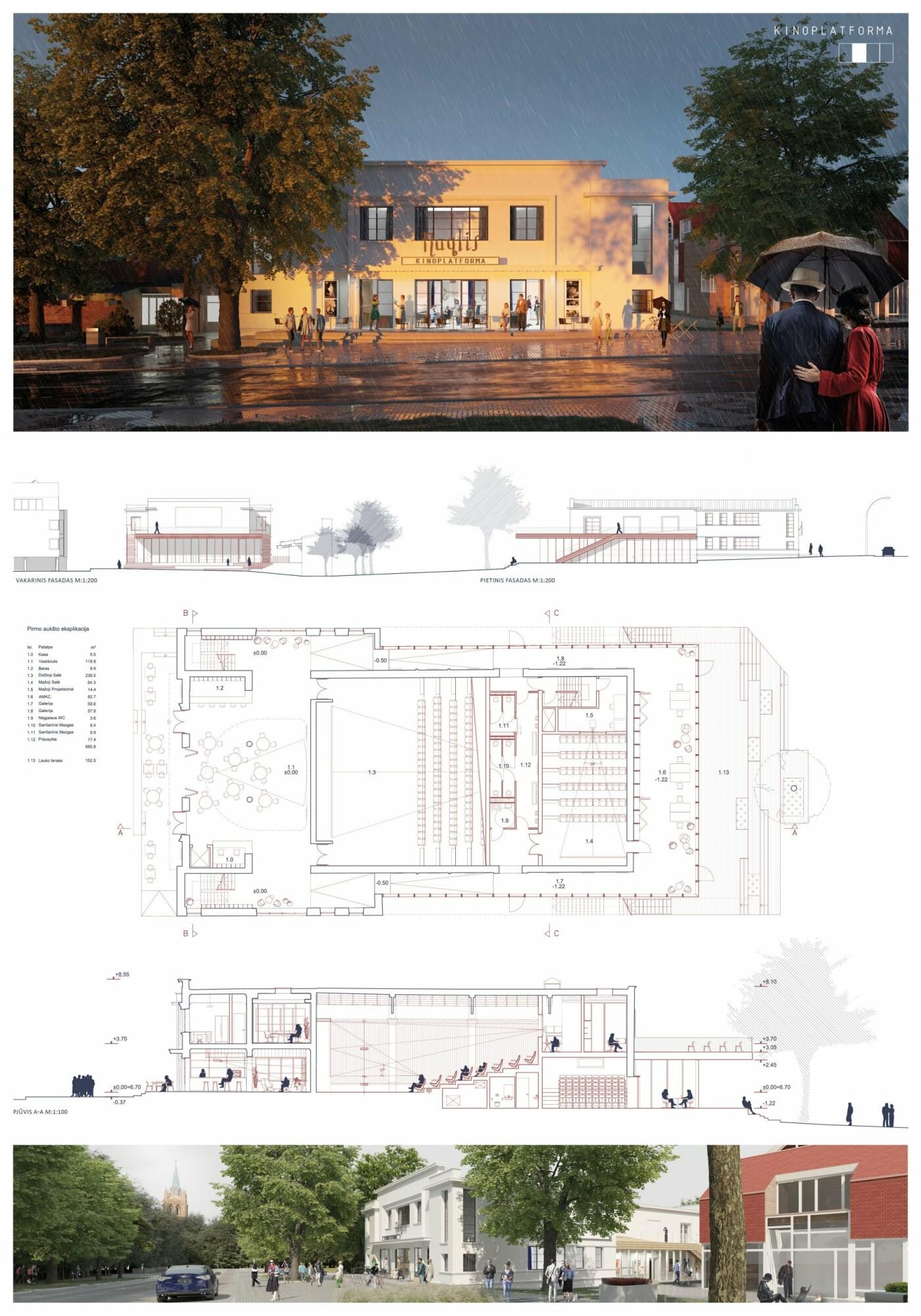 """Kino teatro """"Naglis"""" konkursui pateikti 7 projektai, nuotrauka-2"""