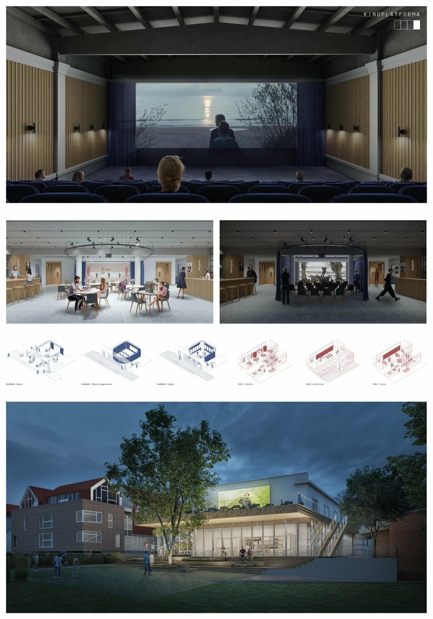 """Kino teatro """"Naglis"""" konkursui pateikti 7 projektai, nuotrauka-4"""