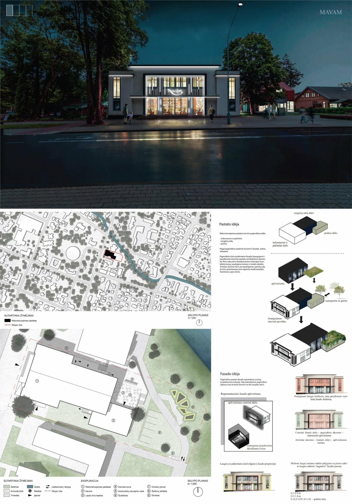"""Kino teatro """"Naglis"""" konkursui pateikti 7 projektai, nuotrauka-25"""