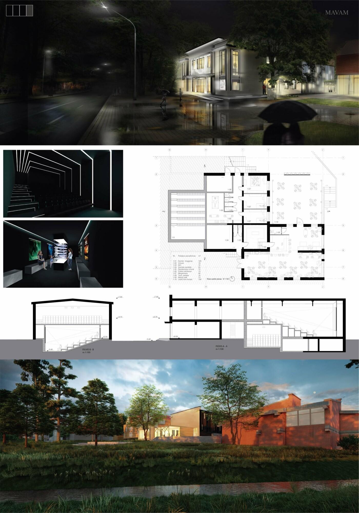 """Kino teatro """"Naglis"""" konkursui pateikti 7 projektai, nuotrauka-28"""