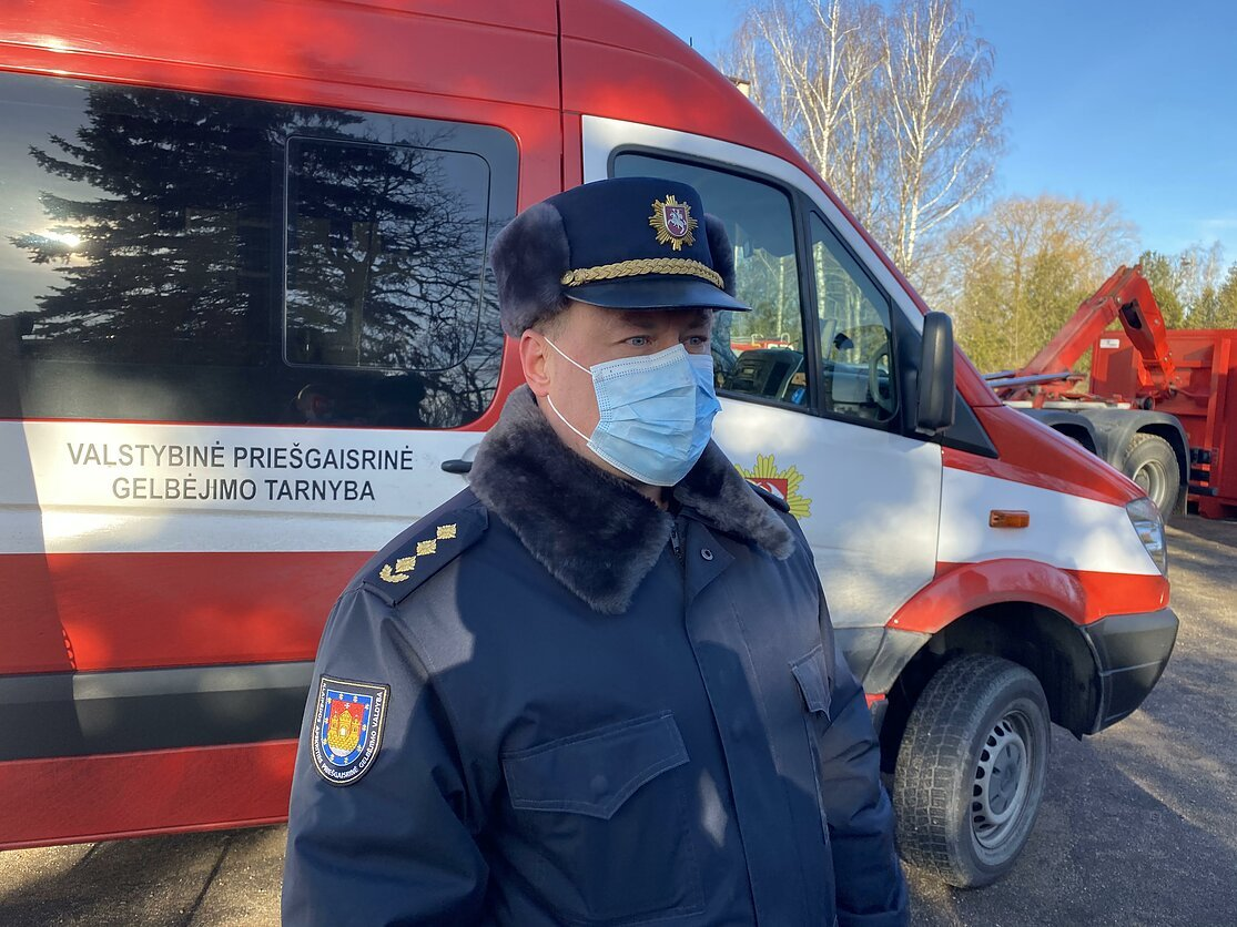 Klaipėdos priešgaisrinės gelbėjimo valdybos viršininkas Marius Garbenis, P. Selezniovo/LRT nuotr.