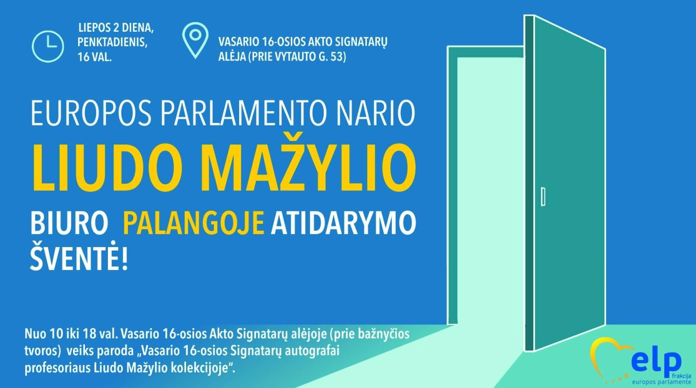 Europos Parlamento narys Liudas Mažylis atidarys biurą Palangoje, nuotrauka-1